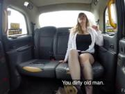 Huge tits chubby bangs in fake taxi