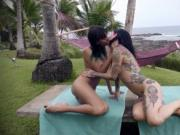 Tattooed women Janice and Joanna luxurious make out ses