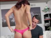 Sexy teen Kara Faux sucks and fucks enormous cock