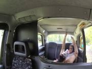 Lesbian taxi driver fuck brunette