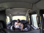 Taxi driver fuck big boobied slut