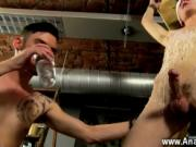 Twink video Reece is the unwilling blindfolded victim,