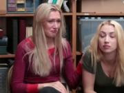 Two beautiful blondes got fucked because they were shop
