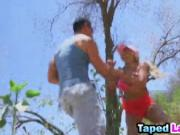 Latina bombshell Luna Star banged hard outdoors