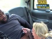 Big black cock in cab drivers pussy