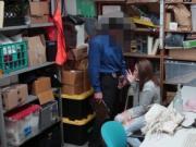 Shoplifter teen Hayden bangs with the cop