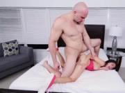 Rough spank fuck and body facial Kira Adams gets a meat
