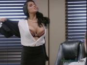 Busty CEO Romi Rain Gets Fondled By New Bodguard