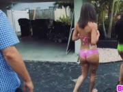 Bffs babes Maya Bijou and Crystal Rae washing cars and