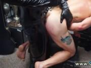 Muscle stud blowjob gay Dungeon sir with a gimp