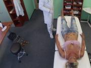 Busty blonde jerking cock of doctor
