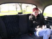 Redhead flash ass for fake taxi discount