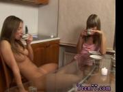 Favourite blonde Horny girl/girl teens slurping each ot