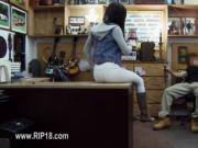 Amateur teenie being copulated by pawn guy