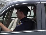 Paul Canon gets a thick law enforcement cock down his t