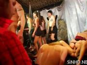 Explicit and wild club pleasuring