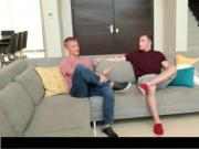 Sexy gays fucking assholes on couch