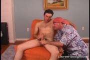 Hot str8 HUNG dude gets b