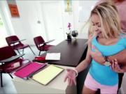 Blonde babe Marsha May Fucks on teachers table