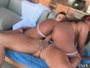 Attractive big ass ebony slut gets tight pussy wrecked