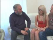 Hot young chick screwed by old guy