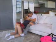 Cory Chase and Bailey Brooke crazy threesome on the cou