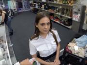 Latina stewardess loves giving blowjobs