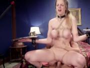 Tied up big tits slaves hard fucked