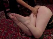 Chained blonde gets ass fingered and fucked