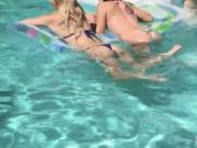 Brunette from russian party first time Summer Pool Part