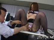 Girl shows off ass, sucks dick