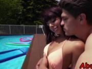 Busty tattooed Latina Gina Valentina pounded hard