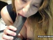 Horny Mom Talking on Phone and Masturbating