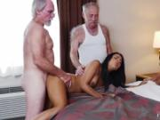 Young girl threesome Staycation with a Latin Hottie