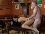 Old mom young friend's compeer anal and bald guy fuckin