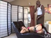 Dirty blonde chick Natasha Starr gets fucked hard by Le
