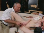 Tiny redhead Dolly Little hook up with grandpa