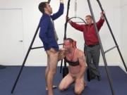 Speedo wearing gay male seduces straight male Teamwork