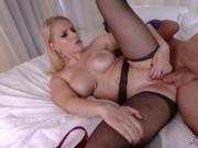Milf young couple threesome and big boobs squirting sol