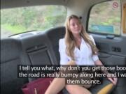 Slutty MILF Stacey Saran fucks a drivers cock in the ba