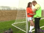 Teen girl teasing cock Dutch football player porked by