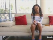 Casting with perfect perky black teen