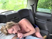 Busty milf good fucked on taxi backseat