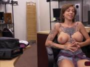 Busty Harlow Harrison shows natural tits and gets fucke