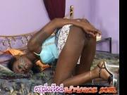 Cute mail order bride teen African wife devouring white