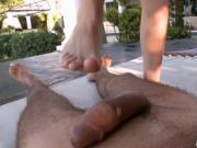 Nasty MILF adores playing with feet