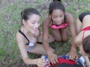 Annika Eve and Mya Mays Mix Exercise With Sex