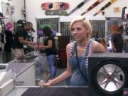 Girl fingering webcam public Boom heads the Bass