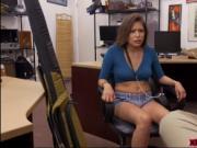 Hot Samantha Parker sucks and fucks the horny pawndude