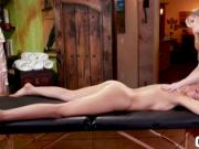 Zoey Monroe and Scarlett Sage hot massage scissor sex